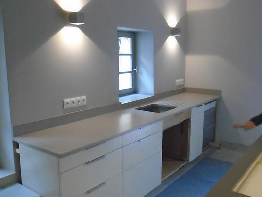 plan de travail en composite cool plan de travail quartz u compac with plan de travail en. Black Bedroom Furniture Sets. Home Design Ideas