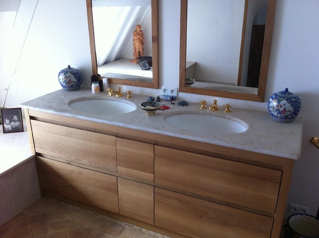 Plan pour salle de bain en pierre marbre ou granit - Produit salle de bain ...